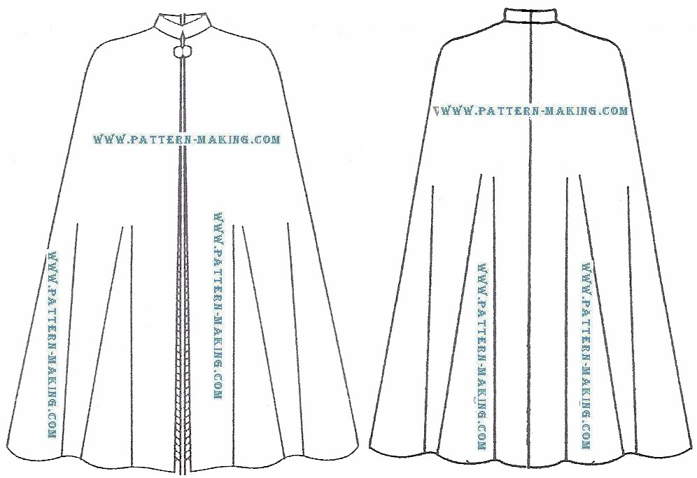 Cape+Patterns Cloak Sewing Pattern How to draft the circular cape