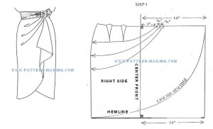 Проект саронг юбки sascade-1